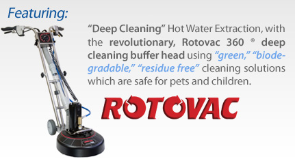 Rotovac vacuum used by Sammamish carpet cleaning